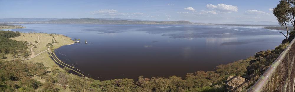 Lake Seen from Baboon Cliff Lookout in Nakuru National Park, Kenya