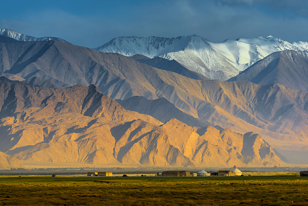 Landscape on the Karakoram Highway Around Karakoram and Pamir Mountains, Xinjiang, China