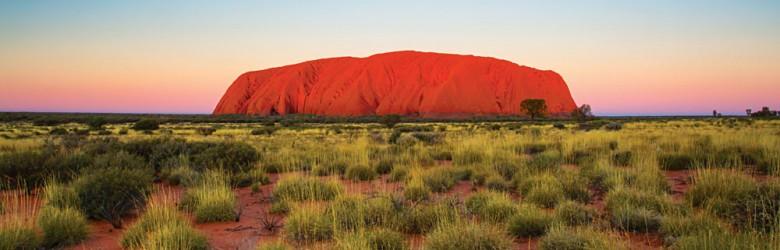 Majestic Ayers Rock Uluru at Sunset, Northern Territory, Australia