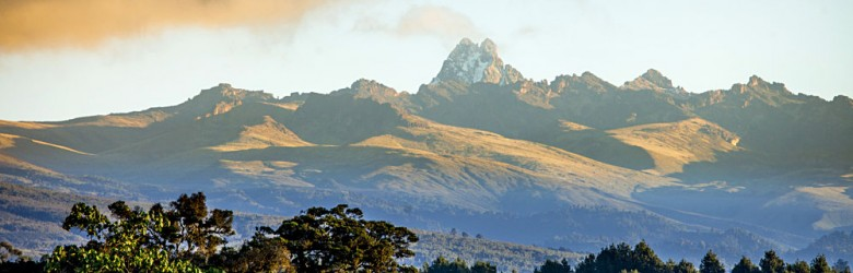 Panorama of Mount Kenya, Kenya