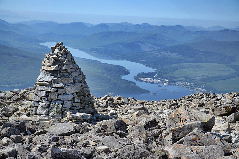Path to the Summit of Ben Nevis in Scotland, the Highest Mountain in the United Kingdom