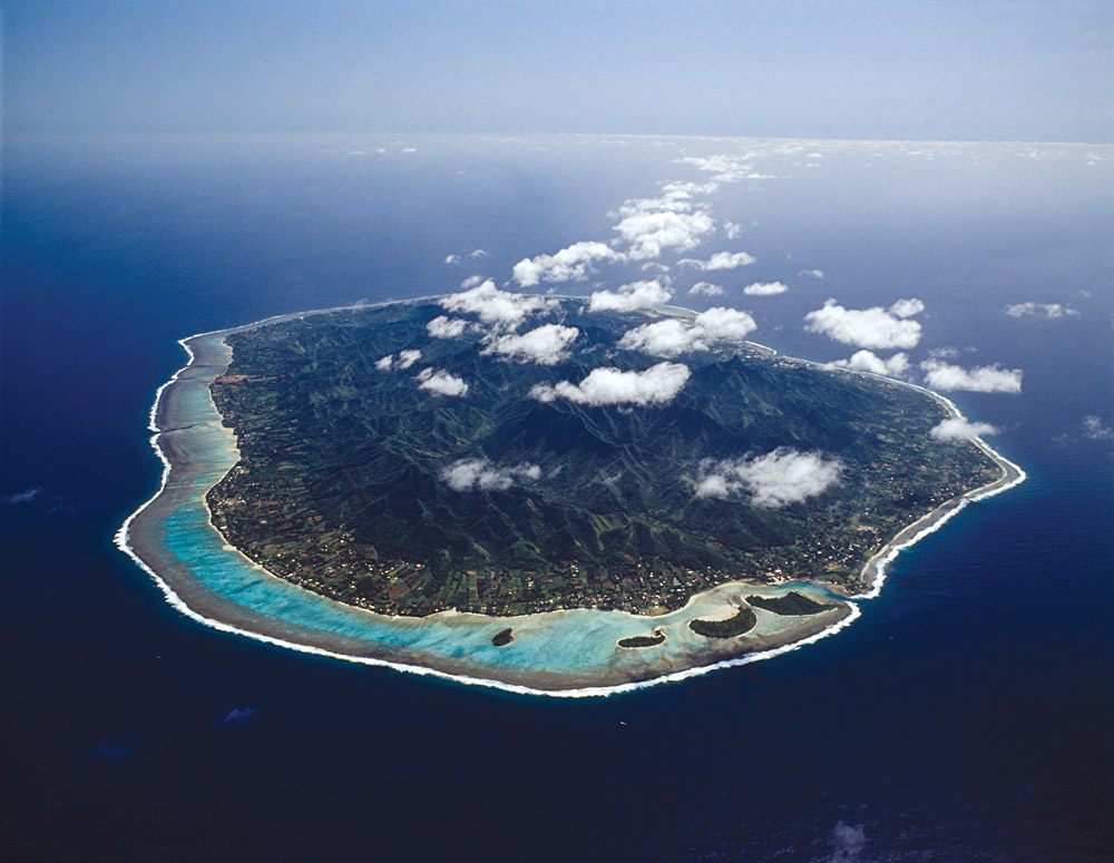 Rarotonga Aerial View, Cook Islands