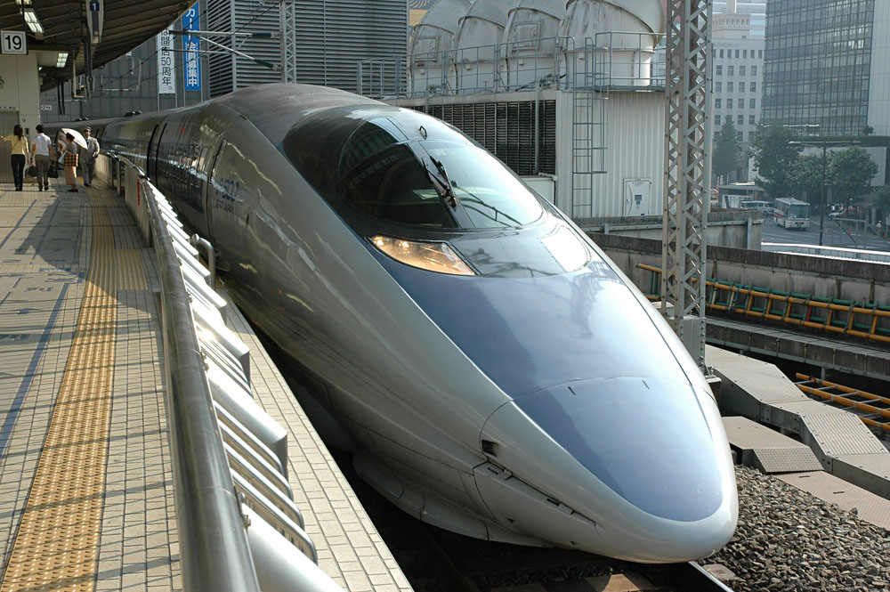 Shinkansen Japanese Bullet Train in Tokyo Central Station, Japan
