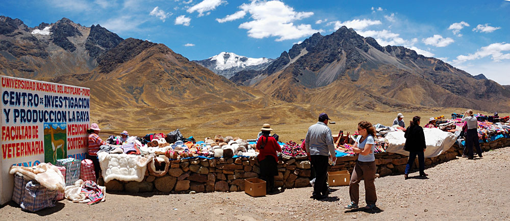 Small Peruvian Market at the Highest Point Between Puno and Cusco, Peru