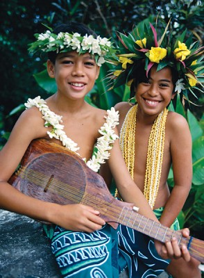 Smiling Boys in Rarotonga, Cook Islands