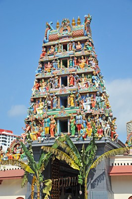 Sri Mariamman Hindu Temple in Chinatown, Singapore