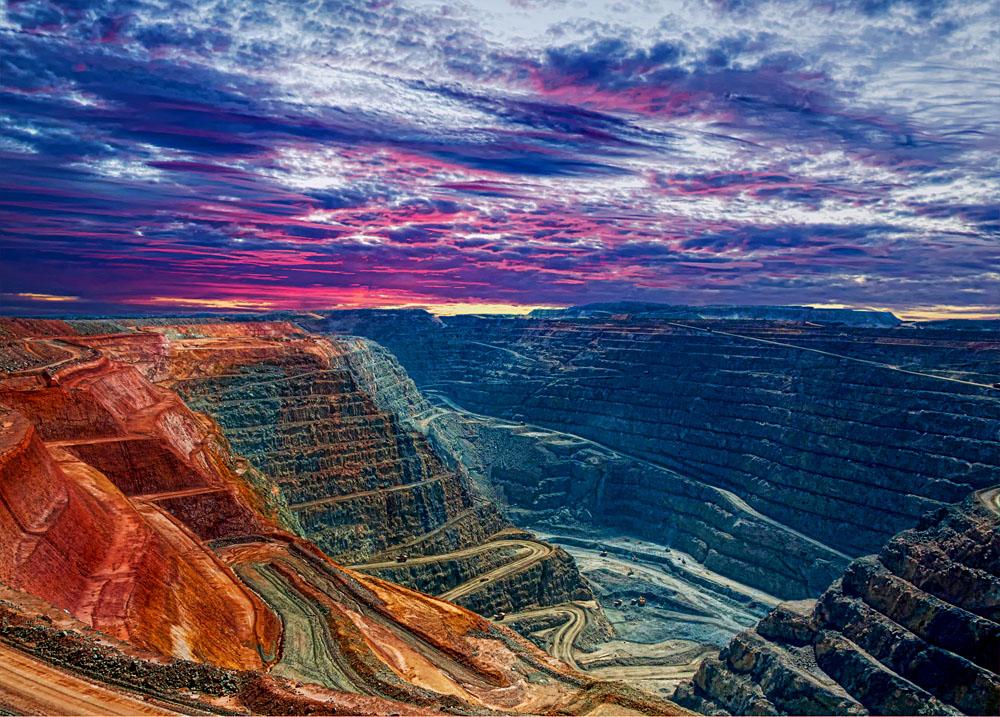 Super Pit in Kalgoorlie, Western Australia, Outback, Australia
