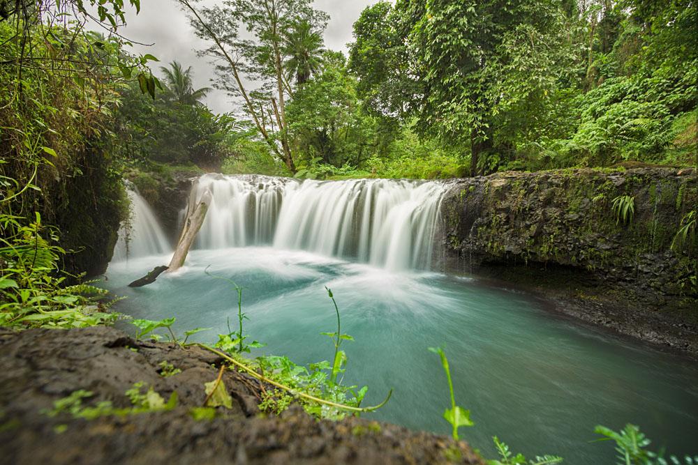 Togotogiga Waterfall in Upolu, Samoa