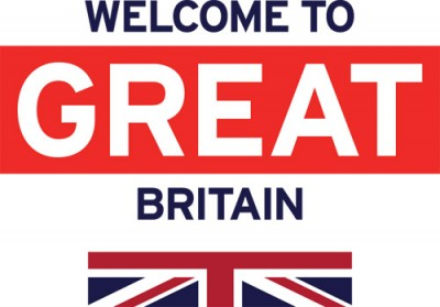 Welcome to Great Britian Logo Stacked Blue 2016