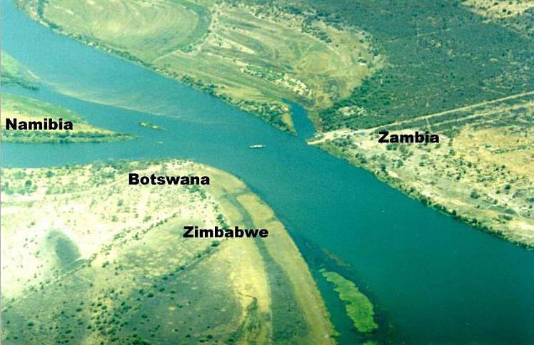 Aerial Quadripoint, Africa