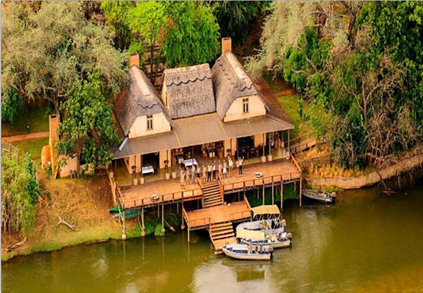 Aerial View of Royal Zambezi Lodge, Zambia