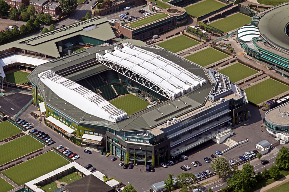 Aerial View of Wimbledon Centre Court London, England, UK
