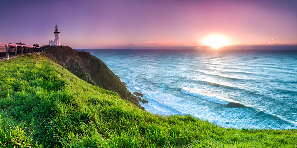 Byron Bay Lighthouse During Sunrise, New South Wales, Australia