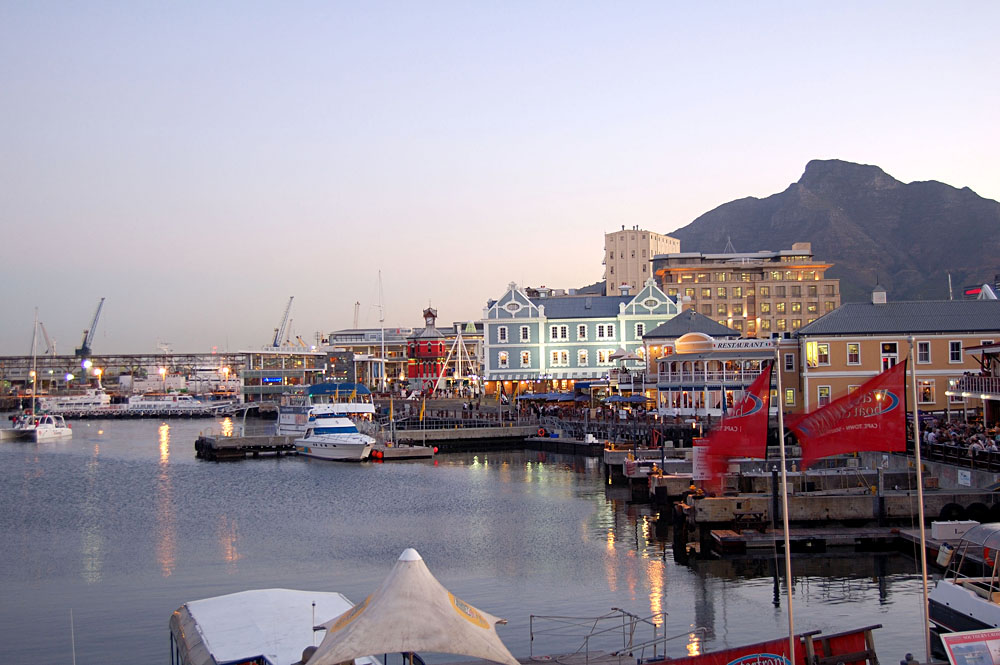 Cape Town Harbour in the Evening, South Africa