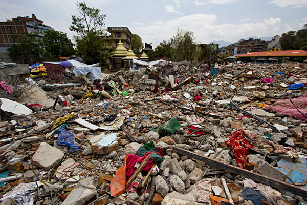Devastation in Kathmandu of 2015 Earthquake in Nepal