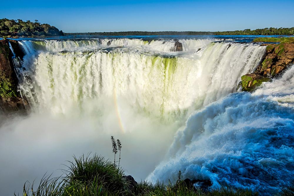 Devil's Throat at Iguassu Falls, Argentina Brazil