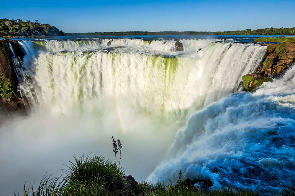 Devil's Throat at Iguassu Falls, Argentina Brazil