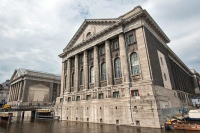 Facade of the Pergamon Museum in Berlin, Germany