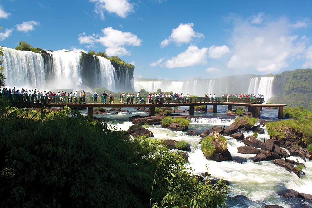 Iguassu Falls Walkway Argentina Brazil