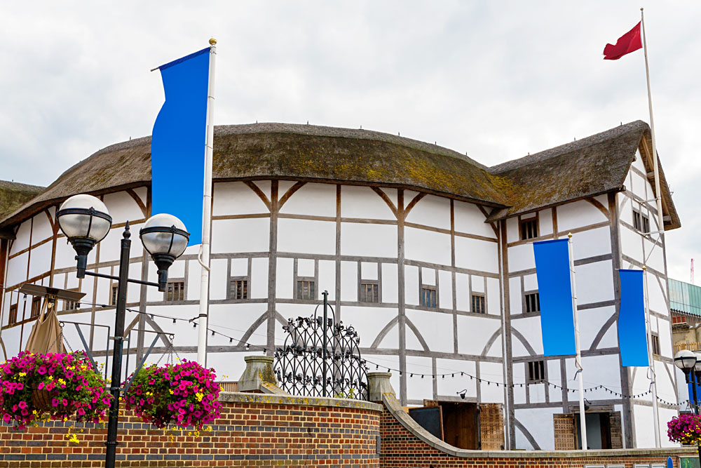 Shakespeare Globe Theatre in London. England, UK