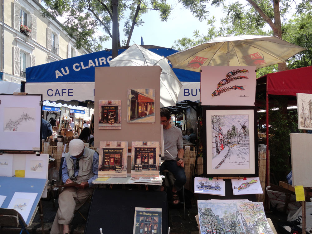 Steve Martin - Artists in the District of Montmartre in Paris, France
