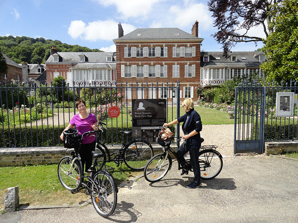 Steve Martin - Biking to Maison Vacquerie - Musee Victor Hugo in Villequier, France