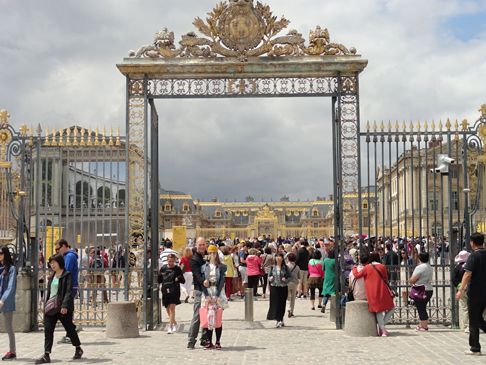 Steve Martin - Entrance to Versailles, France