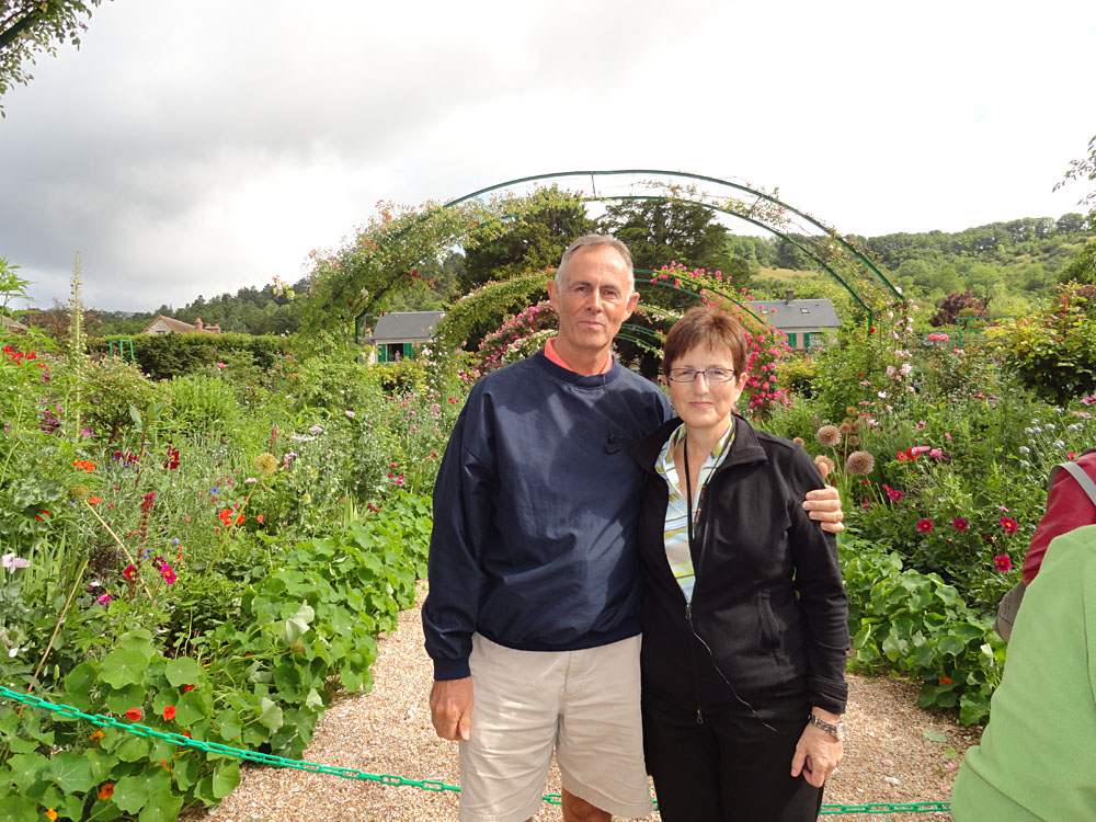 Steve Martin - Steve and Judy at Claude Monet's House and Gardens, Giverny, France