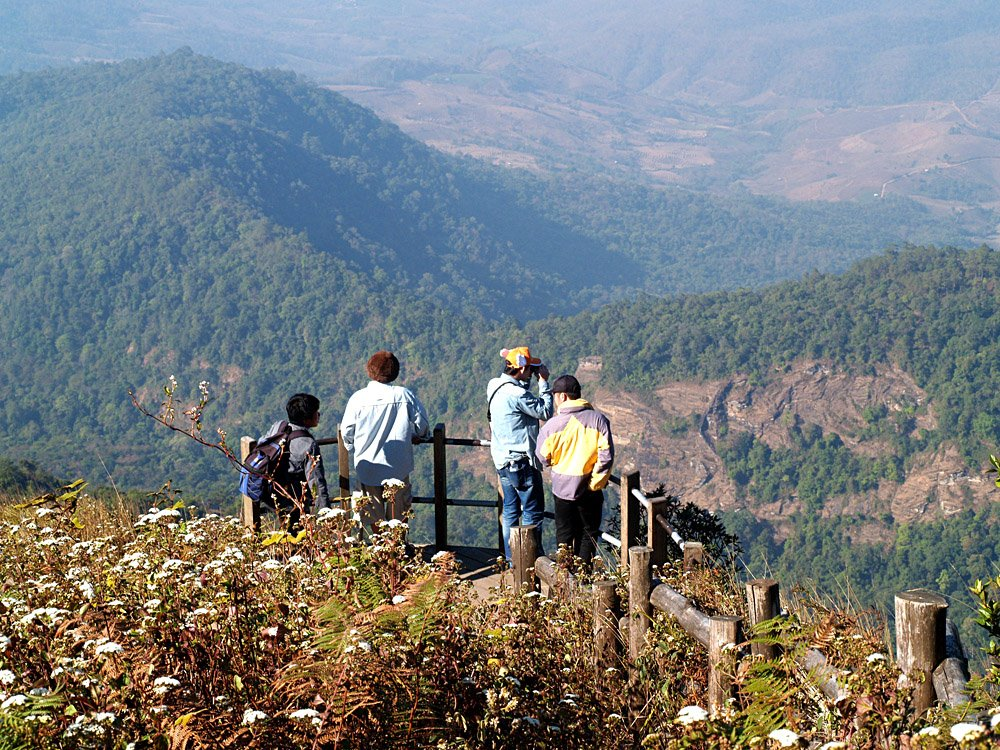 View of Kew Mae Pan in Doi Inthanon National Park, Chiang Mai Province, Thailand