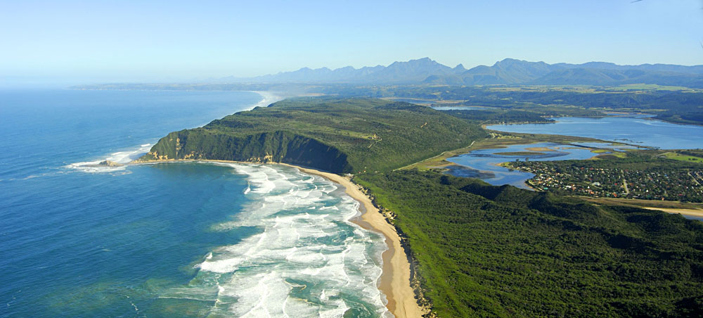 Aerial View of Sedgefield, Garden Route, South Africa