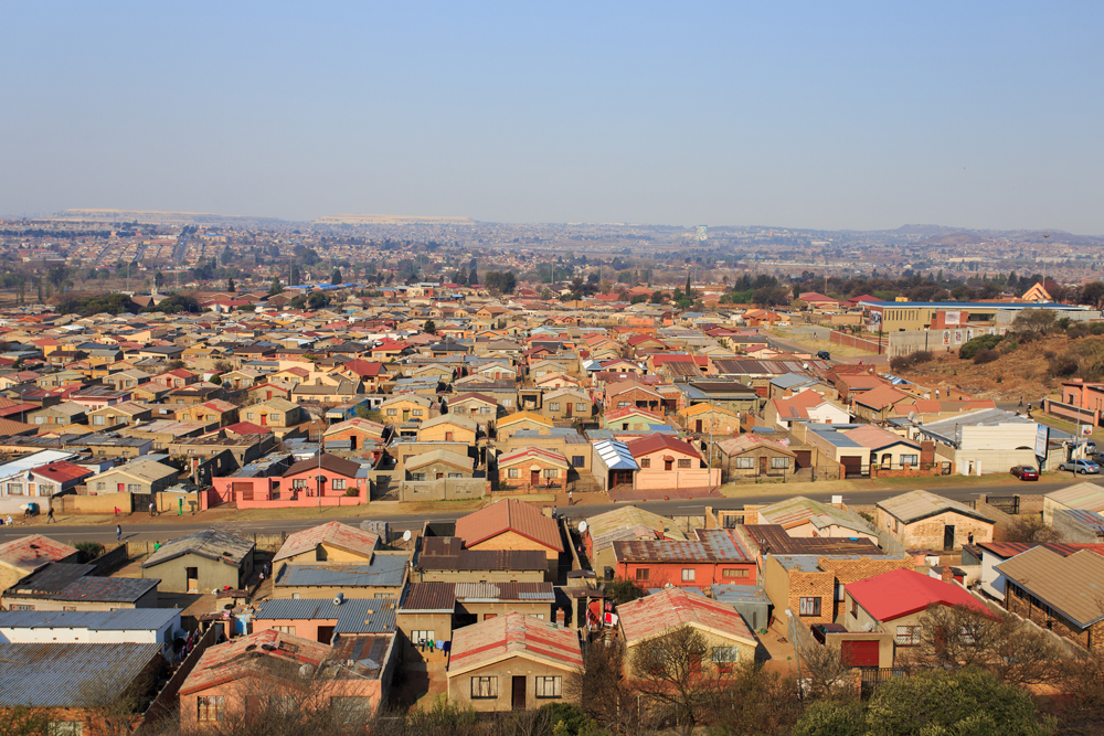 Aerial View of Soweto, South West Region of Johannesburg, South Africa
