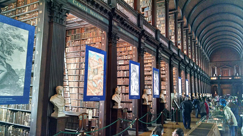 Anthony Saba - Trinity College Library, Home of the Book of Kells, Dublin, Ireland