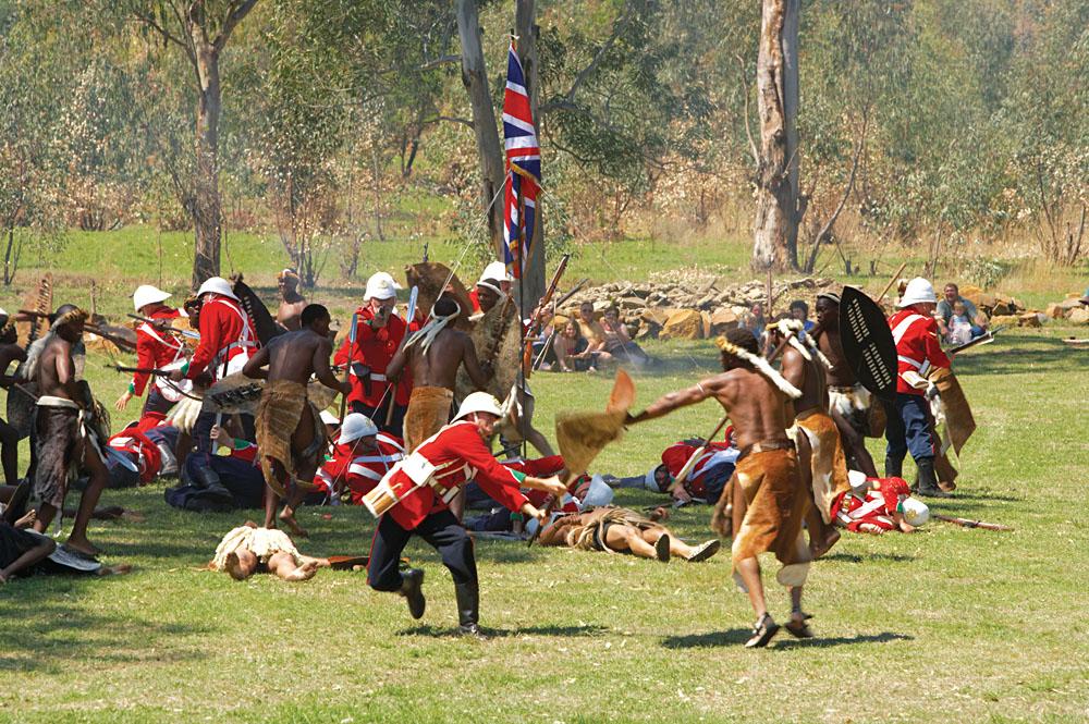Battlefield Reenactment of Battle of Talana Hill During Second Boer War, KwaZulu-Natal, South Africa