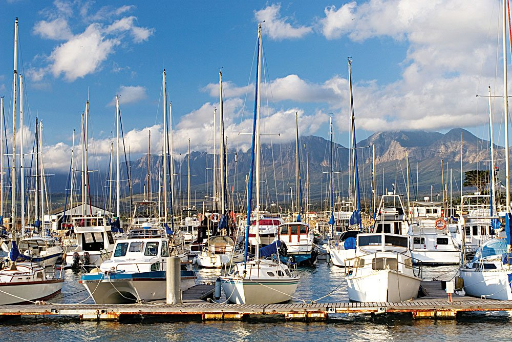 Boats in Knysna Harbour, Garden Route, South Africa
