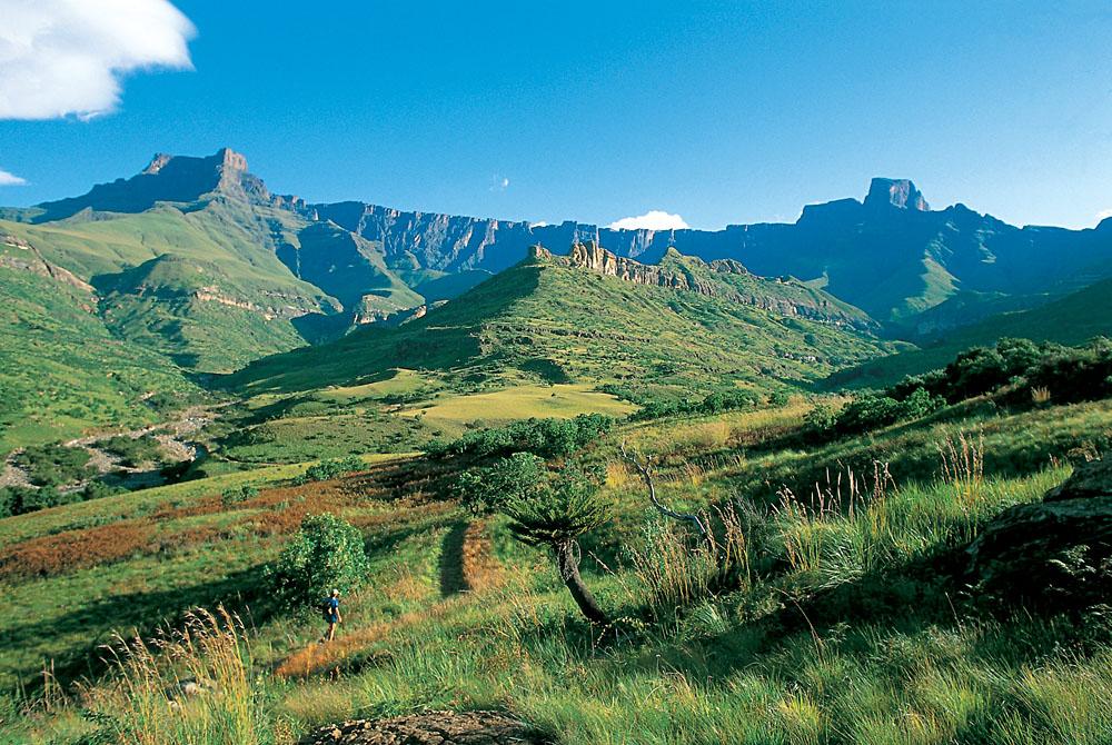 Drakensberg Mountains in KwaZulu-Natal, South Africa