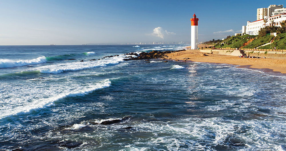Lighthouse at Umhlanga Beach in KwaZulu Natal, South Africa