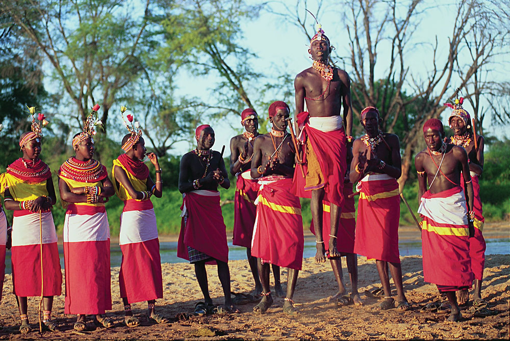Samburu Warriors in Samburu National Park, Kenya