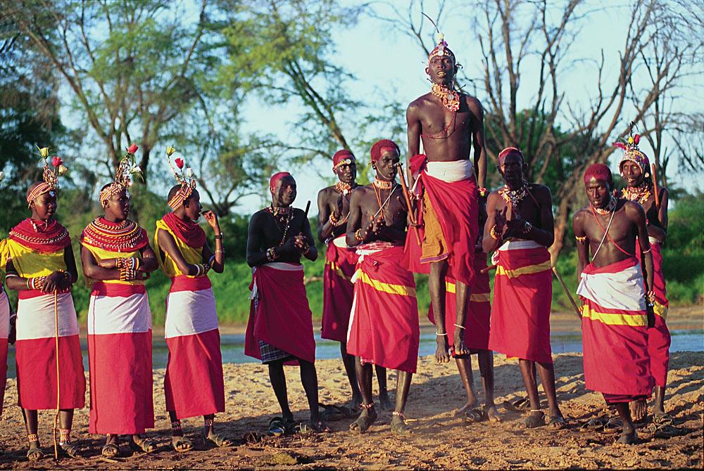 Samburu Warriors in Samburu National Park, Kenya