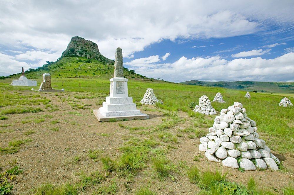 Soldiers' Gravesites at the Great Battlefield of Isandlwana and the Oskarber, Zululand, Northern Kwazulu Natal, South Africa