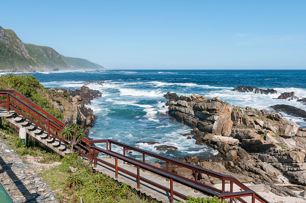 Storms River Mouth with the Indian Ocean in the Background, South Africa