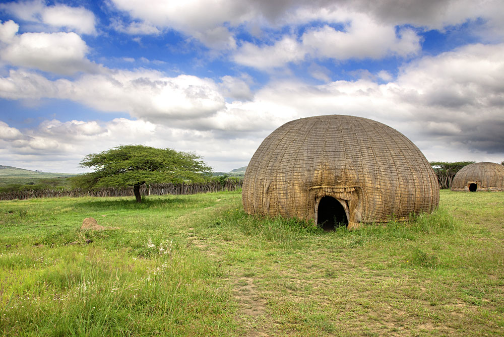 Traditional Hut in Rural Zululand, KwaZulu-Natal, South Africa