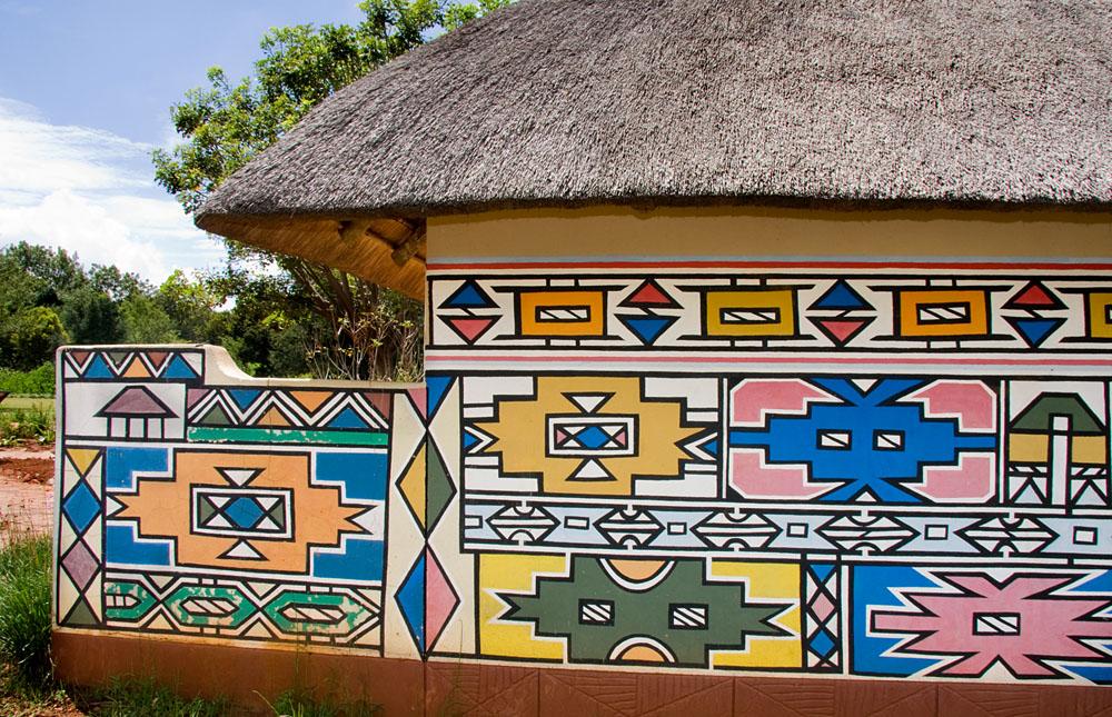 Traditional Ndebele Hut, Mpumalanga, South Africa