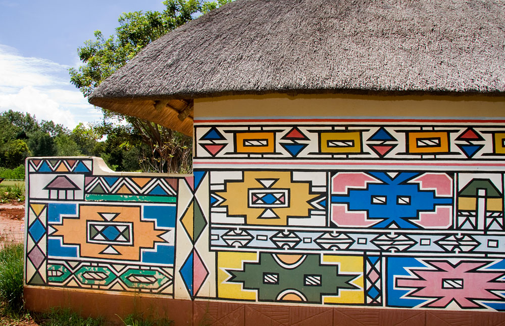 Traditional Ndebele Hut, Mpumalanga, South Africa