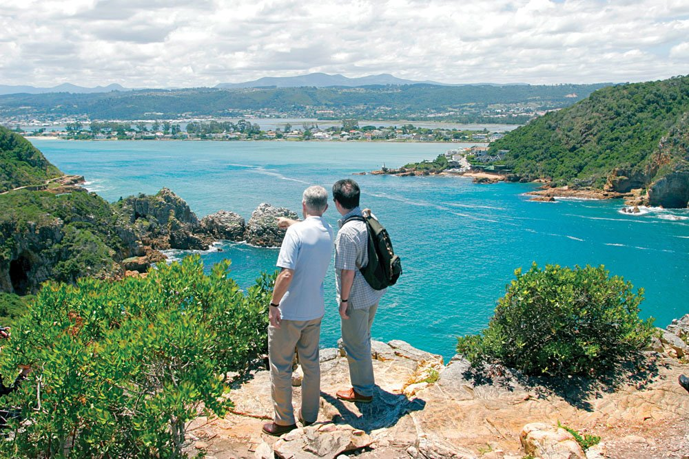 Viewing the Heads in Knysna, South Africa