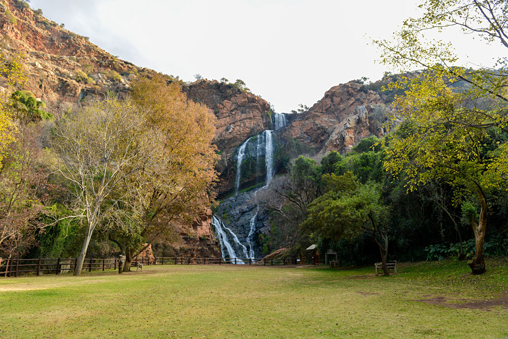 Waterfall in Walter Sisulu National Botanical Garden in Roodepoort near Johannesburg, South Africa