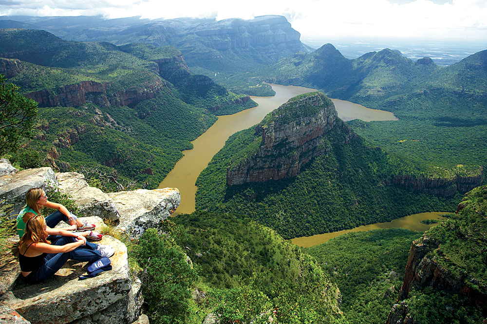 Young Women Viewing Blyde River, Mpumalanga, South Africa
