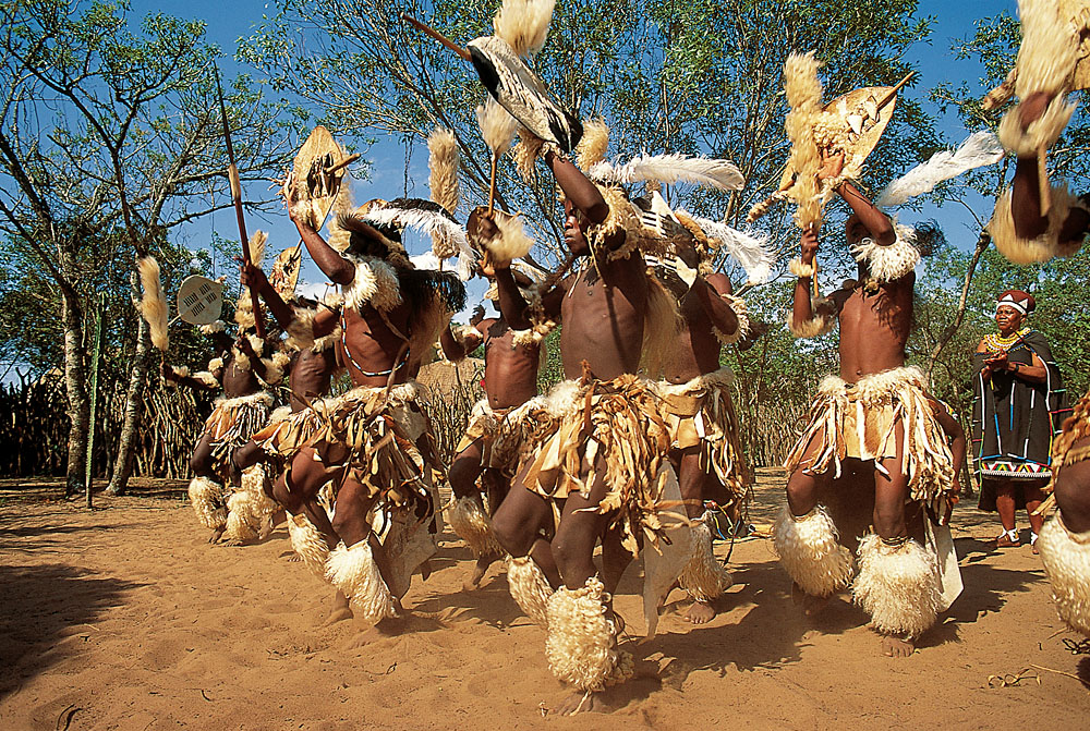 Zulu Dancers in Zululand, KwaZulu-Natal, South Africa