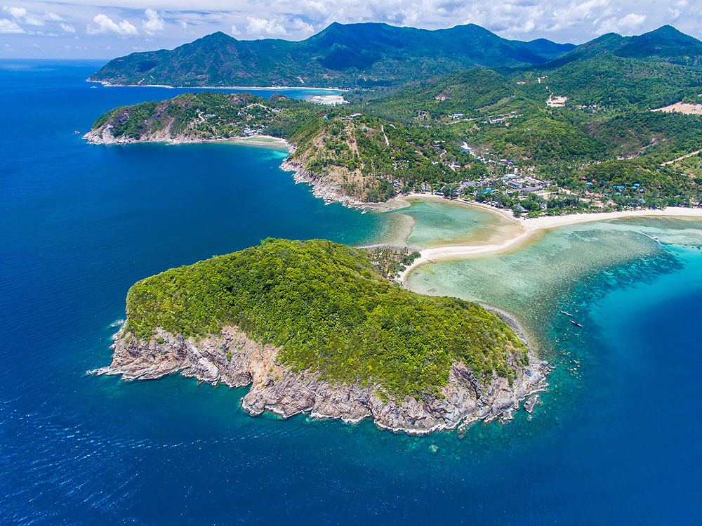 Aerial View of Koh Pha Ngan, Thailand