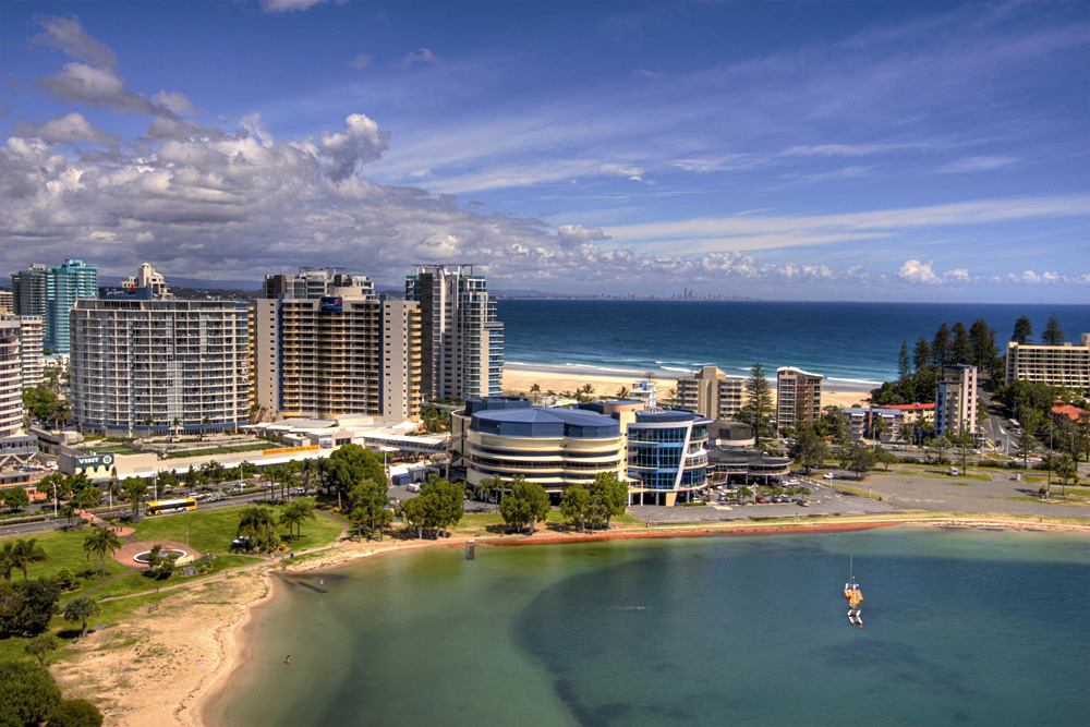 Aerial View of Mantra Twin Towns, Gold Coast, Australia