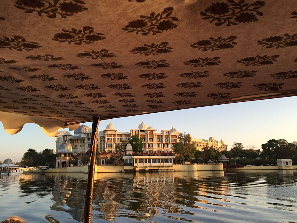 Amelia Chee - Leela Palace Seen from a Boat, Udaipur, India